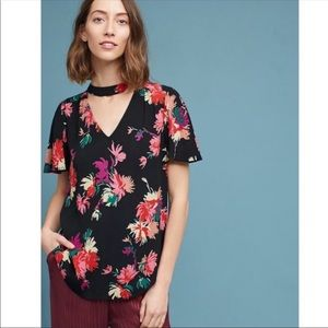 Anthropologie Maeve Bella Floral Choker Top XS